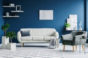 Navy Blue Interior Wall Color