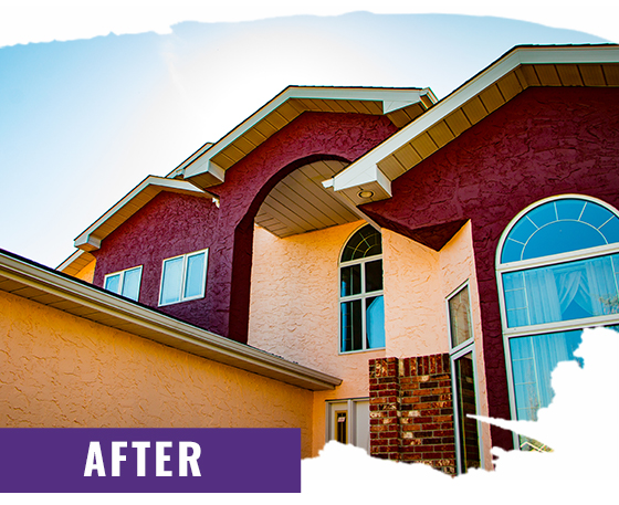 Stucco Home After Painting