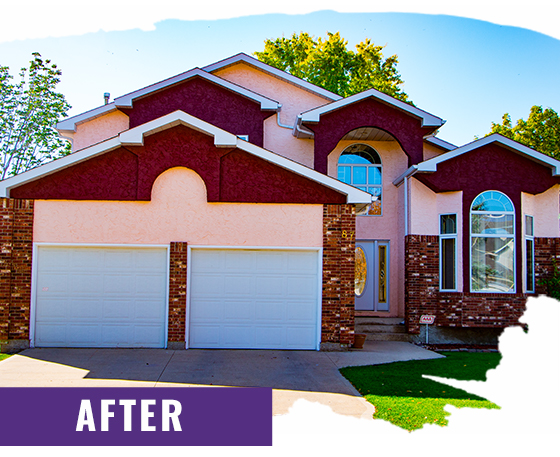 Colorful Stucco Home After Painting