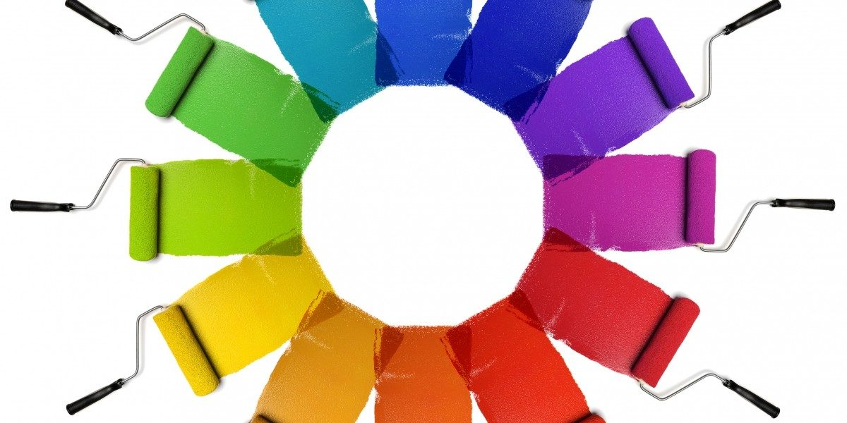 Paint Rollers Color Wheel