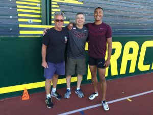 Coach Harry Marra, Dr. Curt Draeger, Ashton Eaton