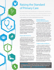 Raising the Standard of Primary Care