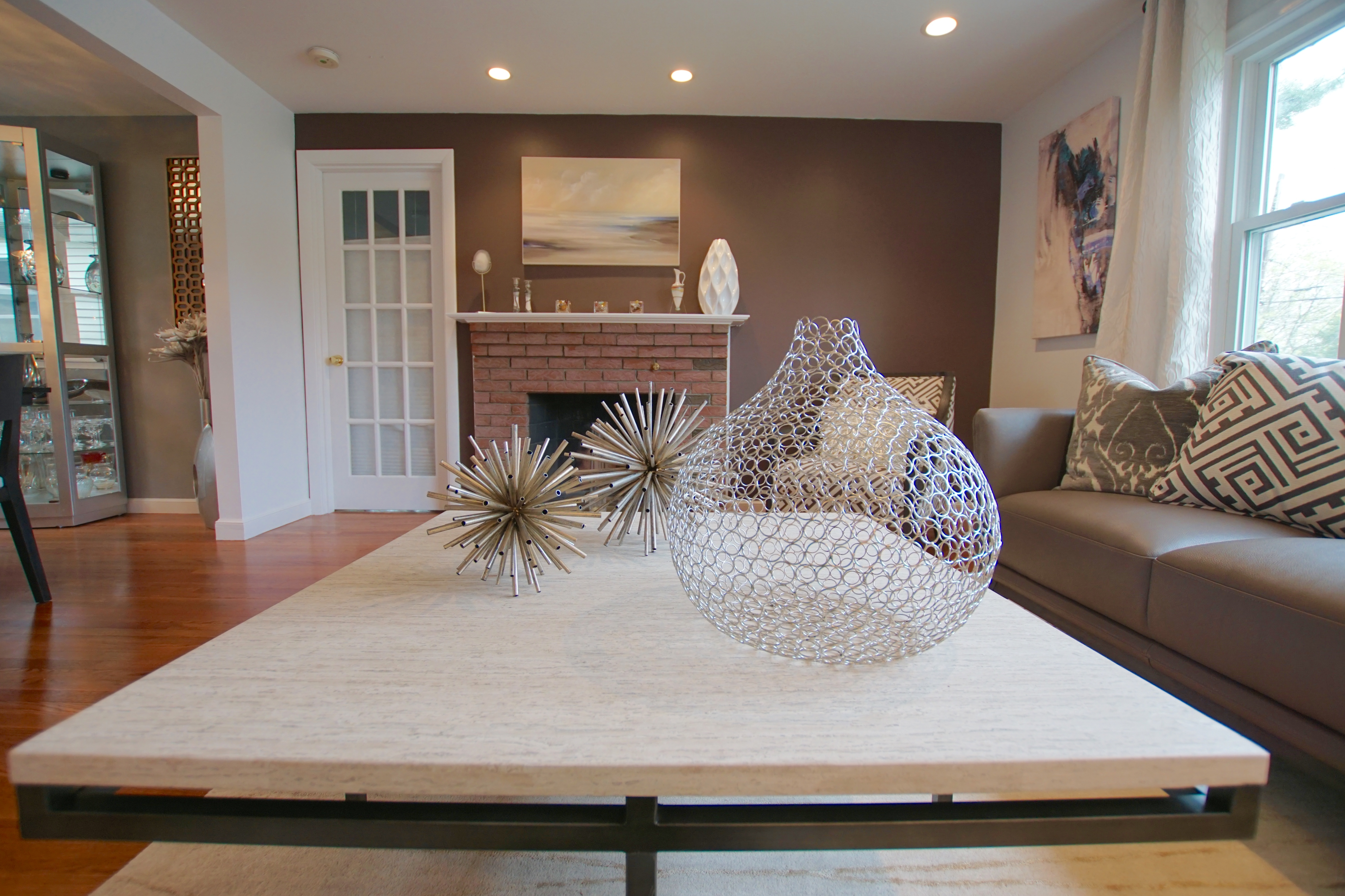 Finished interior design by Interiors by Maey in Canton.