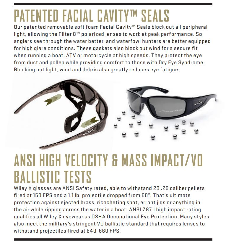 Wiley X Sunglasses Ballistic Protection