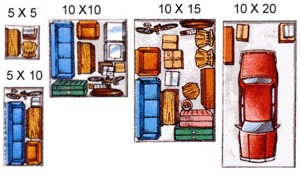 Our storage unit sizes