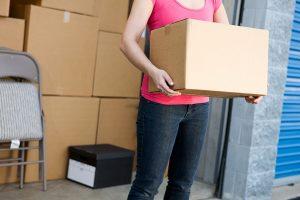 Woman Carrying Box