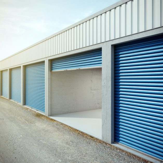 Storage Unit With Open Door