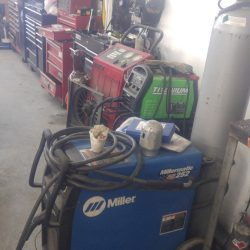 Welding equipment and other supplies at our auto shop - J & C Professional Services