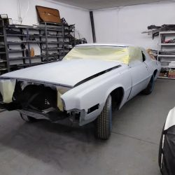A car in the process of being painted - J & C Professional Services