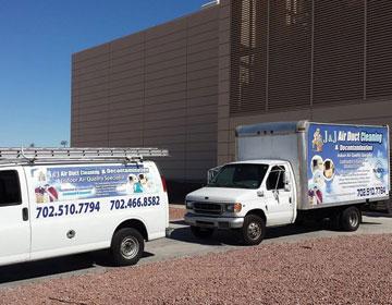 J & J Air Duct Cleaning Trucks