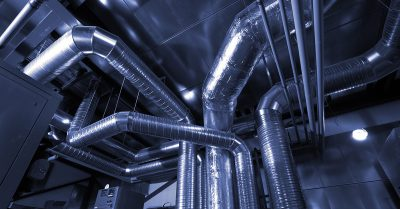 Commercial Air Ducts in Ceiling