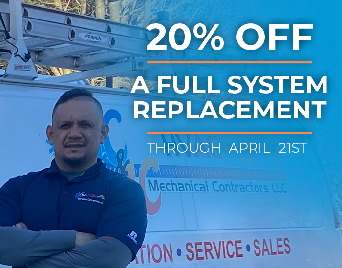 20% off full system replacement