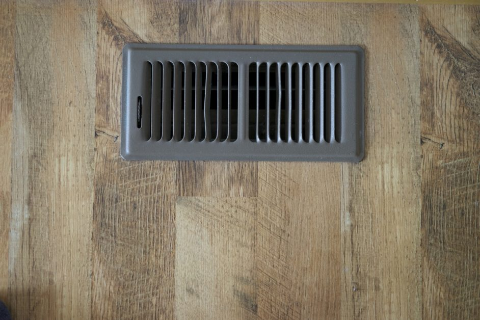 Air Vent on Wood Flooring