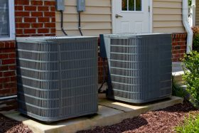 Two AC Units Outside of Residence