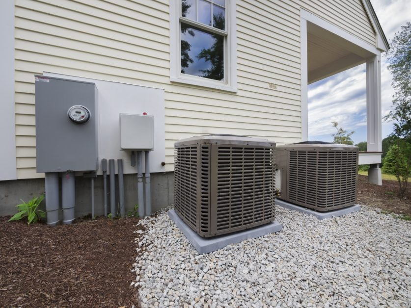 AC Condensers Outside of House