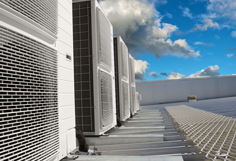Commercial AC Units on Roof