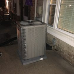 New AC Unit Installation on Concrete Slab
