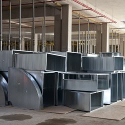 Custom Commercial Ductwork Before Installation