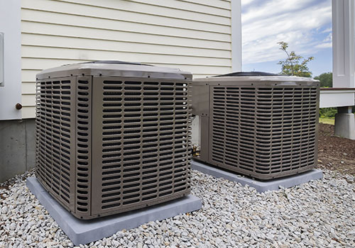 Two Outdoor Condenser Units