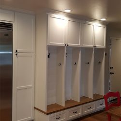 Custom home renovation with white custom cabinetry