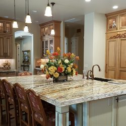 Fresno kitchen renovation with custom kitchen island and top-to-bottom kitchen cabinets