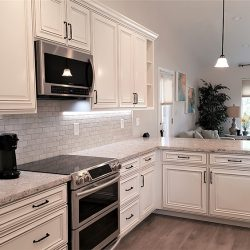 White cabinetry in a Clovis kitchen remodel