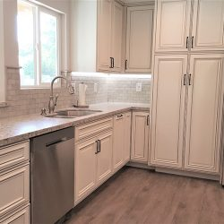 All white features in a custom Fresno kitchen remodeling