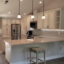 Clovis custom kitchen design with all white features