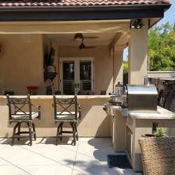 Outdoor renovation for an outdoor kitchen