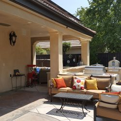 Outdoor remodeling for an outdoor living area