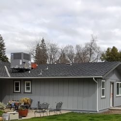 Extra room addition in Fresno for a light grey home