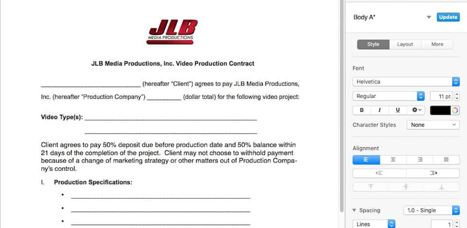 What To Look For In Video Production Contracts  Jlb Media Productions