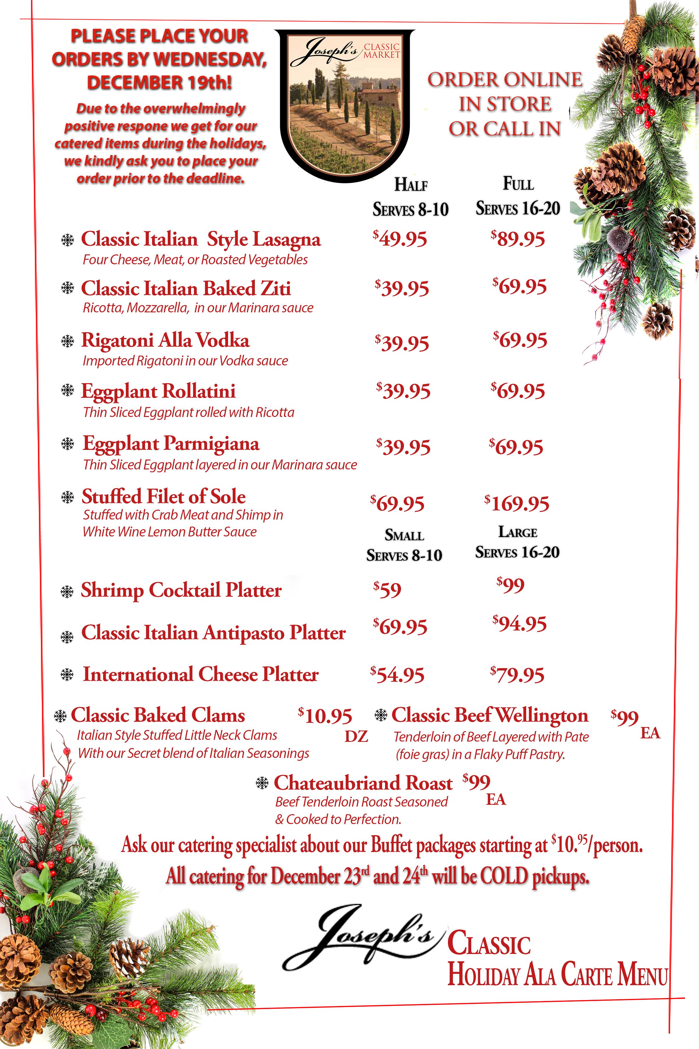 Christmas   Josephs Classic Market