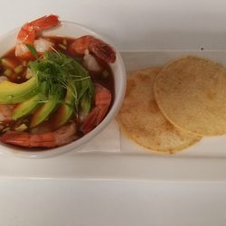 Shrimp and Avocado Soup - Joy Tree Vegan and Vegetarian Restaurant in El Paso