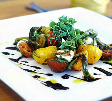 Tomato and aspargus salad - Joy Tree Vegan Restaurant in El Paso