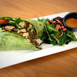 Fajita Chicken Wrap - Joy Tree Vegan and Vegetarian Restaurant in El Paso