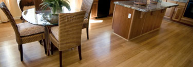 A beautiful example of a refinished haerwood floor