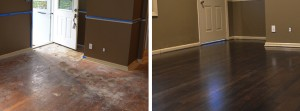 The gorgeous hardwood flooring after a refinish