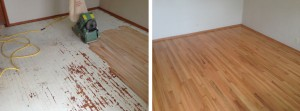 Sanding and refinishing the hardwood floors of Kansas City