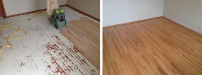 Sanding and refinishing the hardwood floors of Kansas City