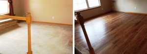 Don't hide your hardwood floors, refinish them with JRK Flooring