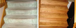 Hardwood floors hiding under the carpet.