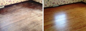 Beautiful hardwood floors just beneath the surface