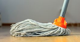 Image of Mop on Hardwood Floor