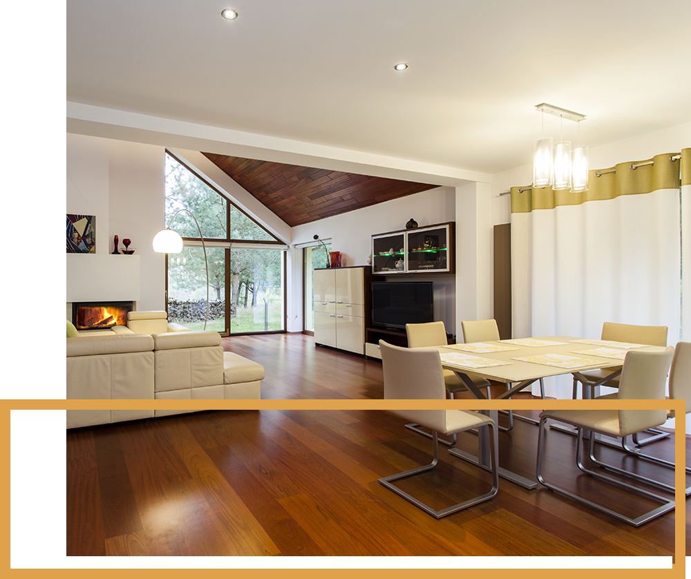 Image of a room with a nice wooden floor