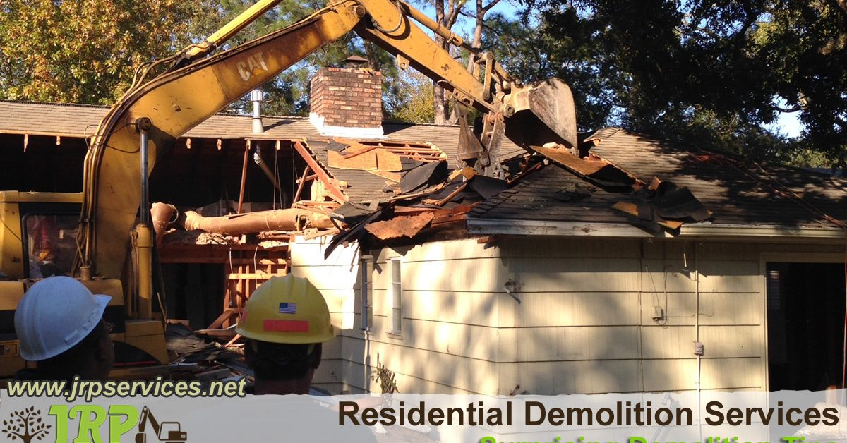 We perform residential demolitions!