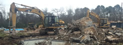 We provide demolition services here in Houston.