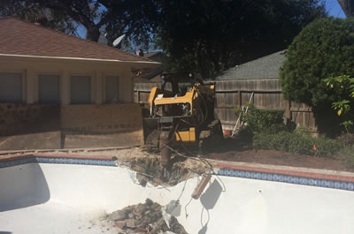 We offer pool removal and demolition!