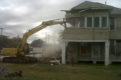 Residential demolition is one of our services.