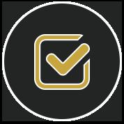 gold check mark icon